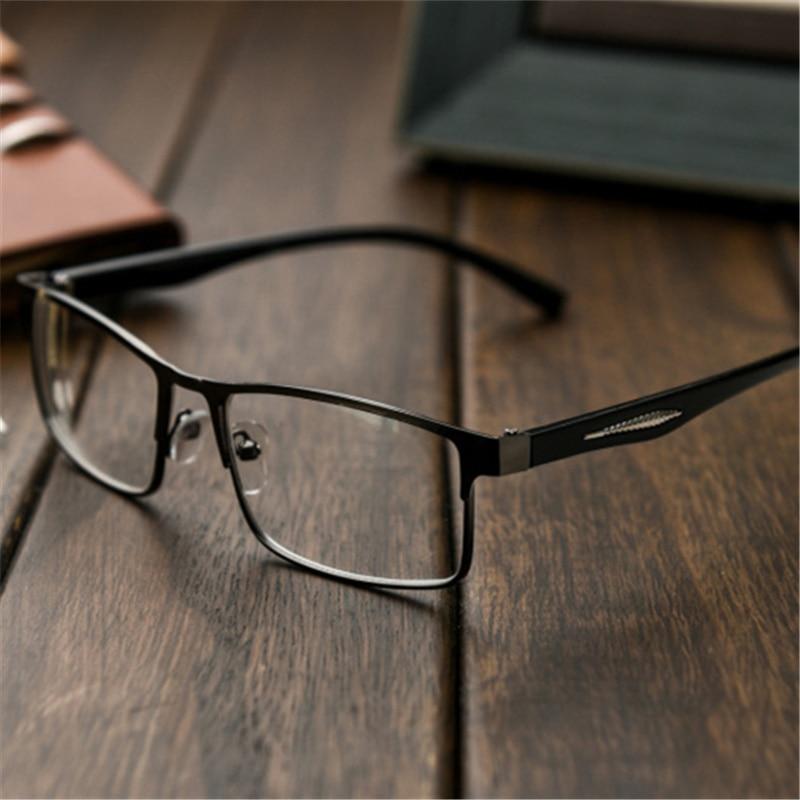 Man Metal Frame Resin Reading Glasses Men Women Hyperopia Prescription Eyeglasses +1.00 1.50 2.00 2.50 3.00 Diopter