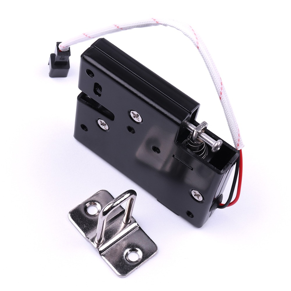 2Pcs 66x56x13.5mm Smart Electromagnetic Lock DC 12V Solenoid Electronic Lock Electric Control Cabinet Drawer Express Door Lock 12v dc cabinet door drawer electric lock assembly solenoid lock 27x29x18mm