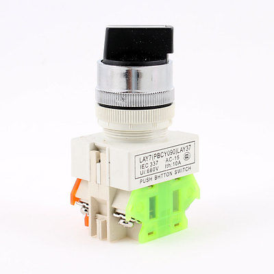 2 Position Rotary Select Selector Switch 22mm 7/8 1 N/O 1 N/C 1 no 1 nc three 3 positon rotary selector select switch latching 22mm