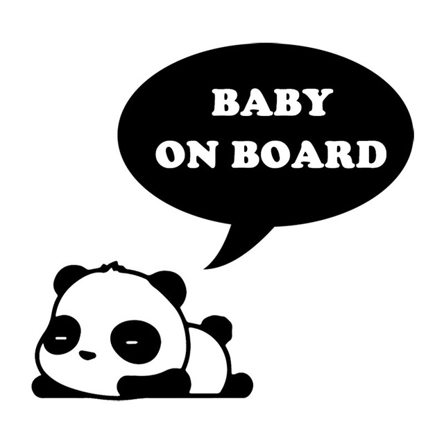 Yjzt 15 3x14 3cm Sleeping Panda Cute Cartoon Car Sticker Baby On Board Personality Decal Accessories C25 0295 Car Stickers Aliexpress