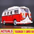 Лепин 21001 Создатель Техника серии Volkswagen T1 Camper Van Модель Сборка Строительные Блоки, Совместимые с Игрушкой 10220