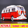 Lepin 21001 Creator Technic series the Volkswagen T1 Camper Van Model Assembling Building Blocks Compatible with Toy 10220