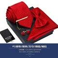 Новый Бесплатная Доставка моды случайные мужские мужской высокого класса галстук устанавливает вышла замуж за Британского жених лук галстук Метросексуал площади 7 СМ на продажу