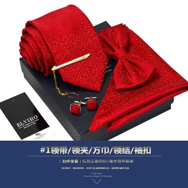 Nuevo Envío Libre de moda casual masculina de Los Hombres de gama alta conjuntos de corbata de seda casado novio Británico pajarita Metrosexual cuadrado 7 CM a la venta