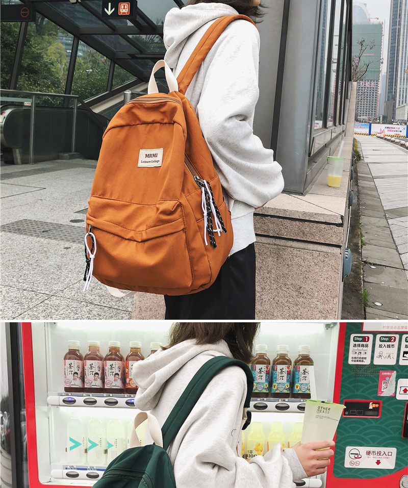 HTB107DRNVzqK1RjSZFvq6AB7VXaC DCIMOR Solid color Women backpack Retro Fashion Waterproof Nylon Backpack School Bags For Teenagers Mochilas Travel Backpacks