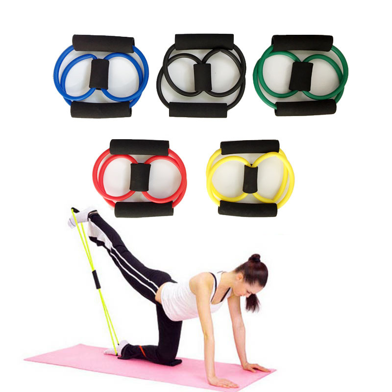 Yoga Dance Pull Puller Pilates Resistance Band 8 Word Pull With Exercise Resistance Gym With Strength Weight Training Exercise
