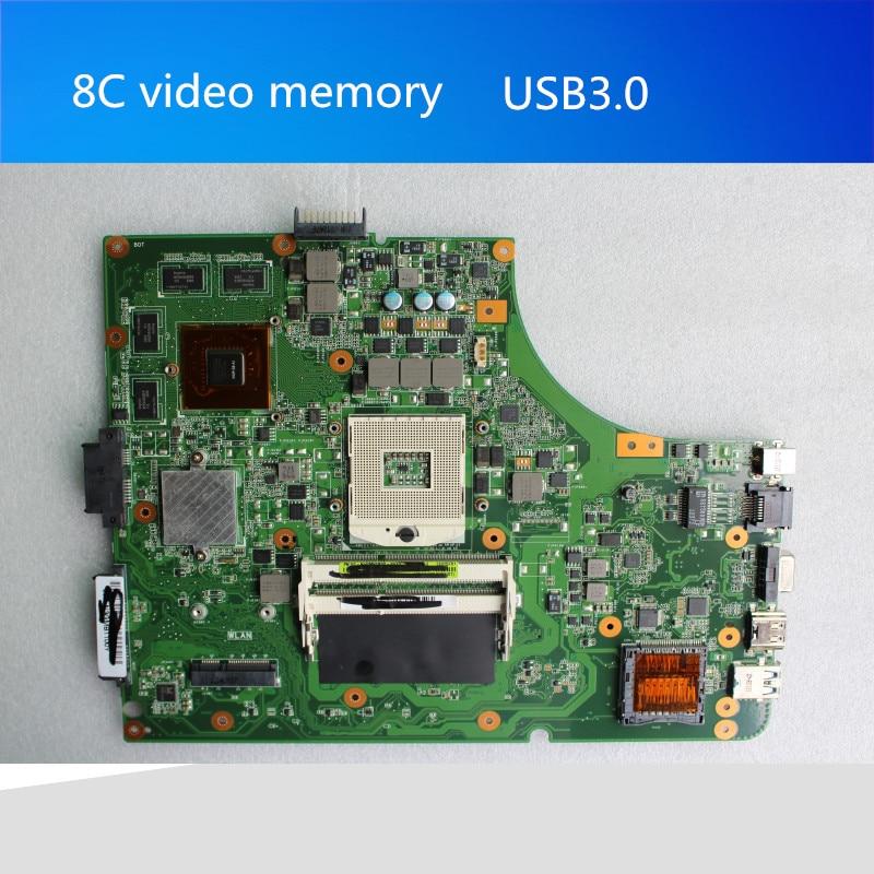 Stock original new laptop motherboard for asus K53SV REV:3.1 USB3.0 HM65 GT540M 2G 60-N3GMB1B00-B02 mainboard original new laptop motherboard for asus k52jc rev 2 1 ddr3 n11m ge2 s b1 mainboard