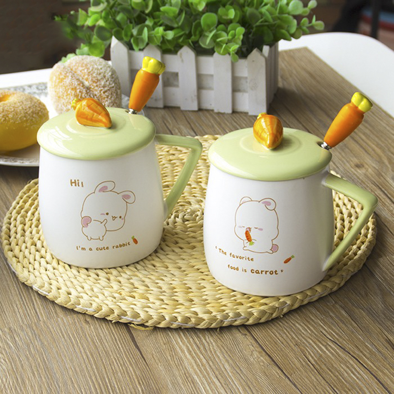 Cute Creative Carrot Ceramic Mug Milk Coffee Breakfast Cup Home Office Drinkware Children Girl Beautiful Creative Holiday Gifts