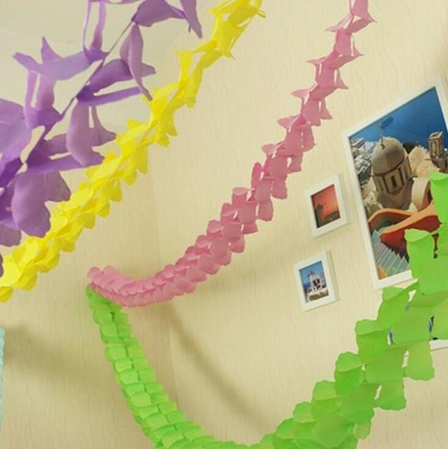 3meter tissue paper flowers party flag banner clover decor craft for event celebration decoration multi color