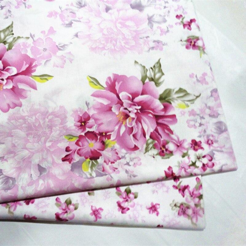 Детская Хлопковая стеганая ткань с цветочным принтом для шитья, сшитая вручную, хлопковая ткань|Ткань|   | АлиЭкспресс