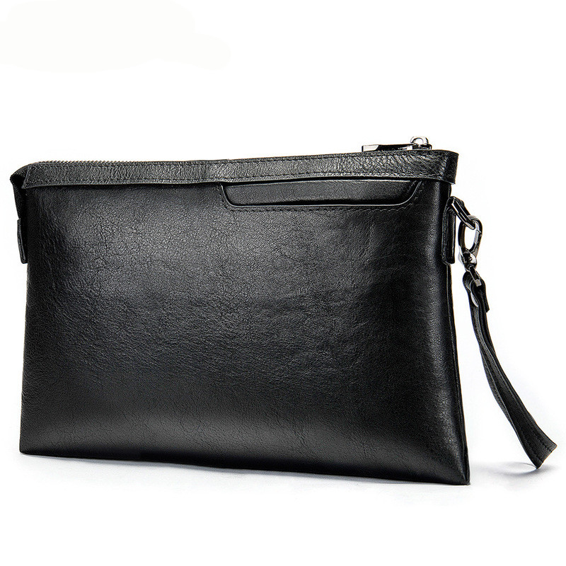 Brand Design Echte Koe Lederen Mannen Handtas Toevallige Lange Portemonnee Business Standard Portefeuilles Grote Capaciteit Mannen Clutch Bag-in Portemonnees van Bagage & Tassen op  Groep 1