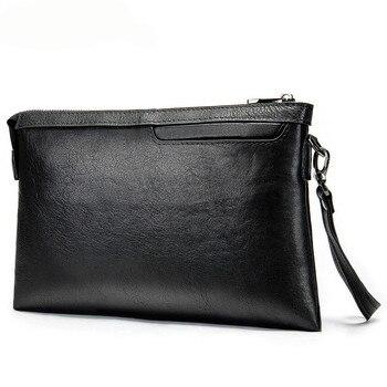 Genuine Cow Leather Men Handbag