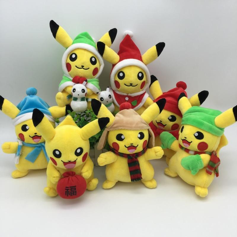 Nya Pikachu Cosplay Pussel Leksaker för Barn Julklapp Toy 7 Style Cosplay Pikachu Fyllda Plush Dolls Halloween Barn Toy