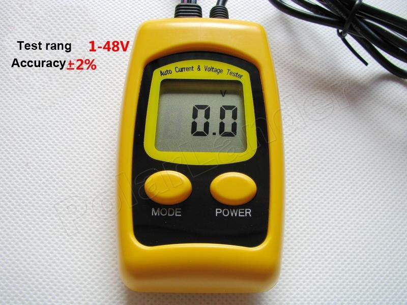 Free shipping LCD screen Voltage Current Tester Auto automotive circuit detector diagnostic resistance tester tool