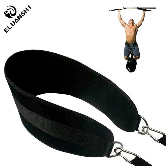 Gym Waist Weight Lifting Fitness Equipments Body Strength Training Apparatus Power Building chinning Dip Belt chin pull up bar