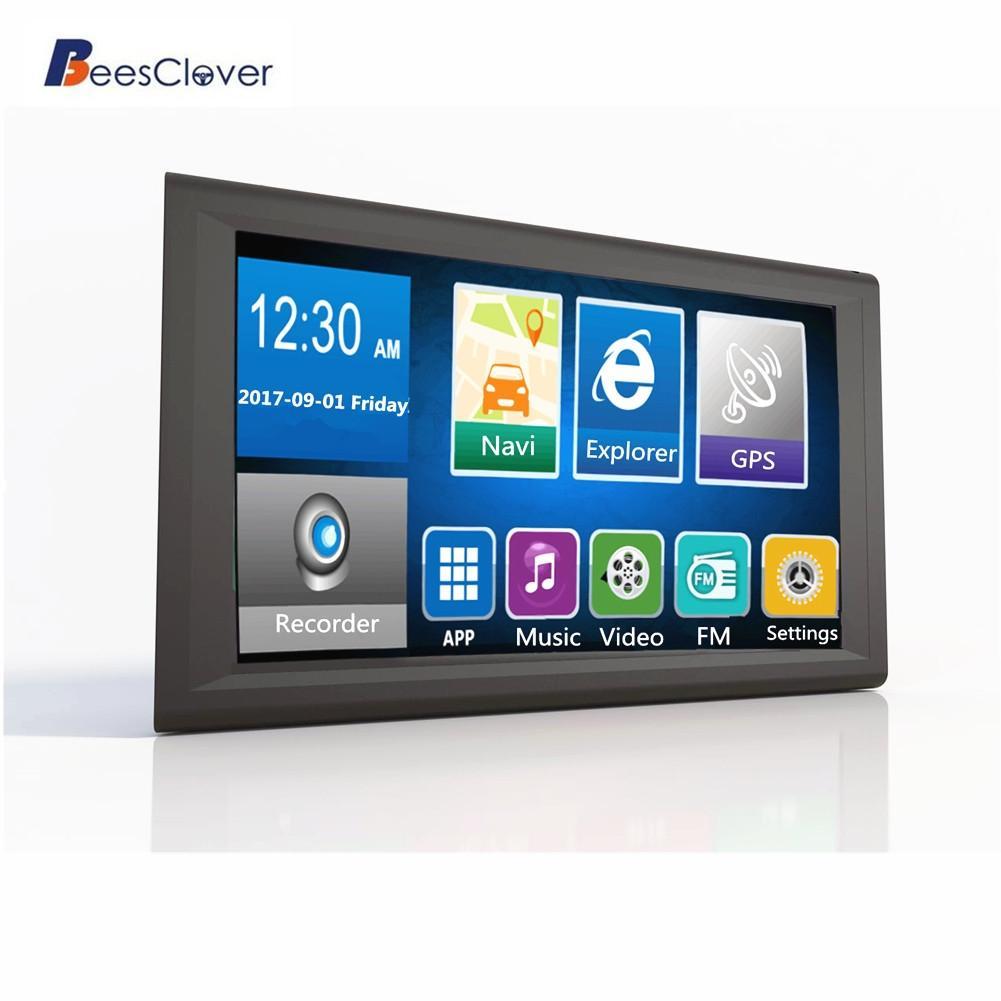 Adeeing 9 pouces voiture GPS Navigation 16GB Android 4.2.2 1080p GPS navigateur tachygraphe enregistreur de données avec cartes gratuites Bluetooth r30
