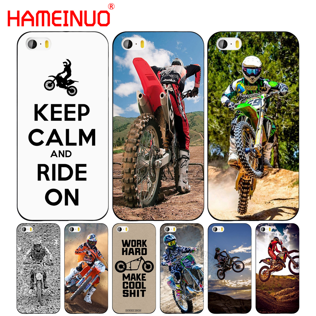 sale retailer 65c49 1ca9e US $1.99 32% OFF|HAMEINUO Motocross dirtbikes free style cell phone Cover  case for iphone 6 4 4s 5 5s SE 5c 6 6s 7 8 plus case for iphone 7 X-in ...