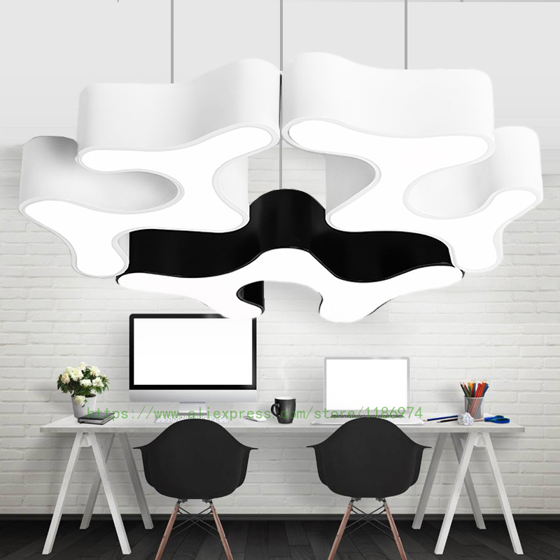 library LED Hanging Lamps Conference Room Pendant Lights Lamparas Modern Pendant Lamp for Office Luminaire commercial lighting riggs r library of souls