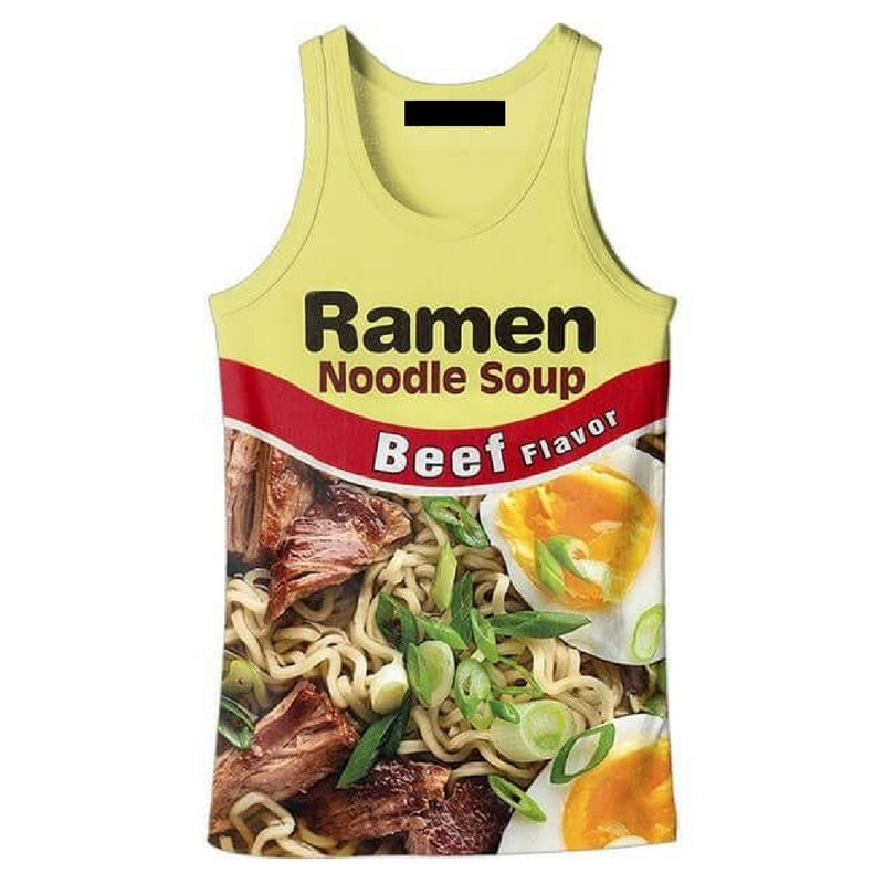 Cloudstyle Fashion 3d   Tank     Tops   Men Noodle Soup Ramen 3D Print Active Vest Singlet Tees Sleeveless Plus Size 5XL Vests Singlets