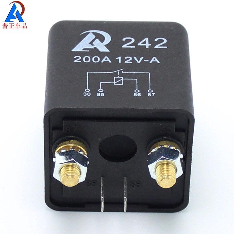 (10PC) Zmogljivi 12V 24V DC releji 200A 300A avtomobilski releji - Avtodeli