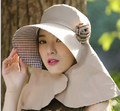 2016 Fashion Women Wide Brim hats Floppy Solid Summer UV Protection Beach Sun Hat Dome fishing Cap bucket hat summer 6color#3845
