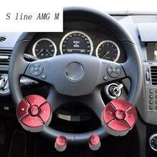 Автомобиль Стайлинг рулевого колеса кнопки крышка Стикеры украшение Накладка для Mercedes Benz C E класса W204 W212 интерьер авто аксессуары