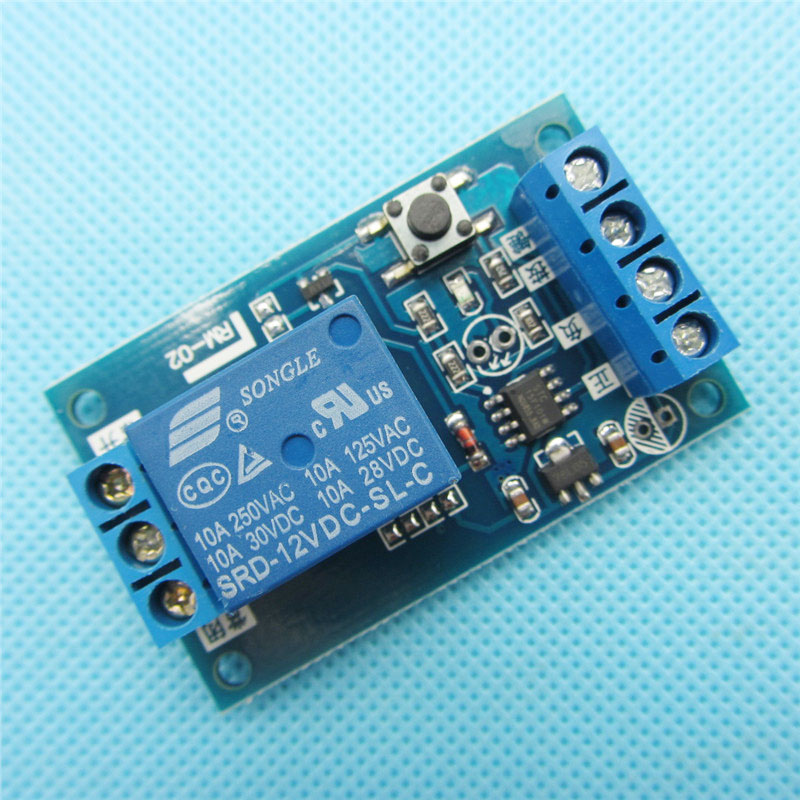 10PCS 12V Bond Bistable Relay Module Car Modification Switch One Key Start and Stop the Self-Locking image