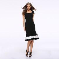 Sexy Black Mermaid Dress Short Women Casual Retro Dress Plus Size Elegant Party Elbise Ukraine Jurken