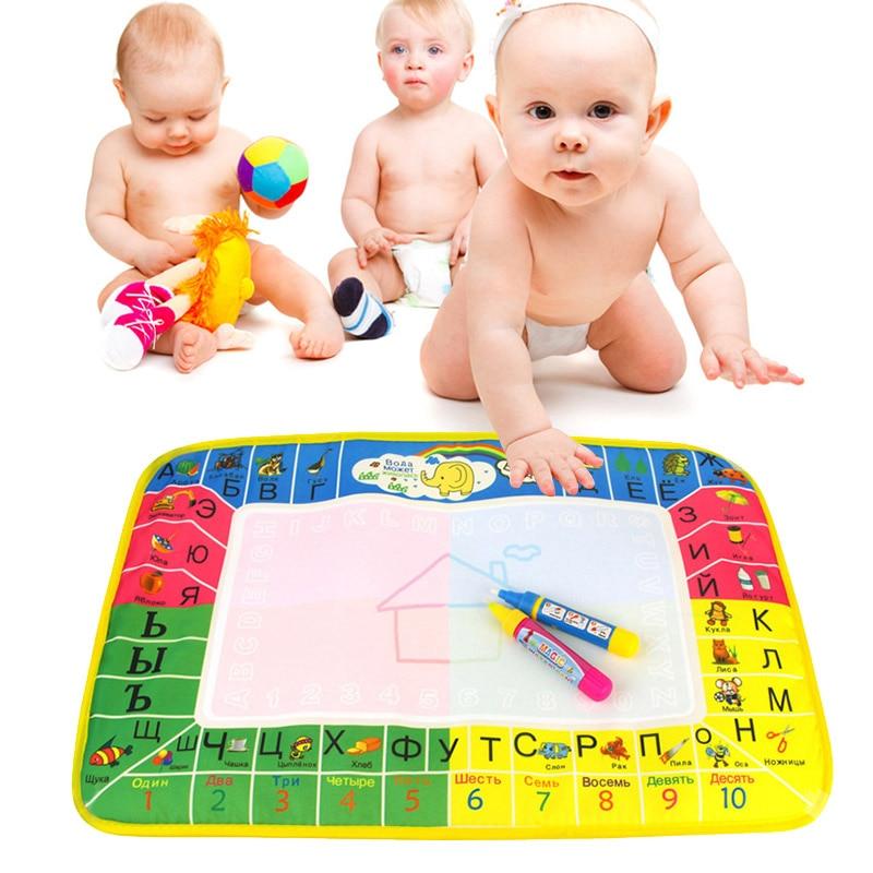 Детские Вода Мат Рисунок доска для рисования записи Doodle Magic ручка дети игрушка Пода ...