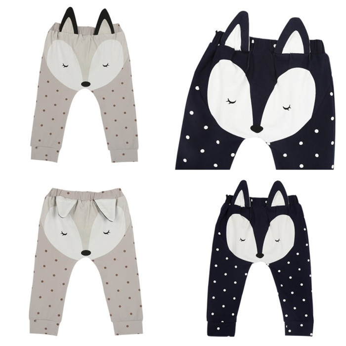 Fox Pattern Baby Pants
