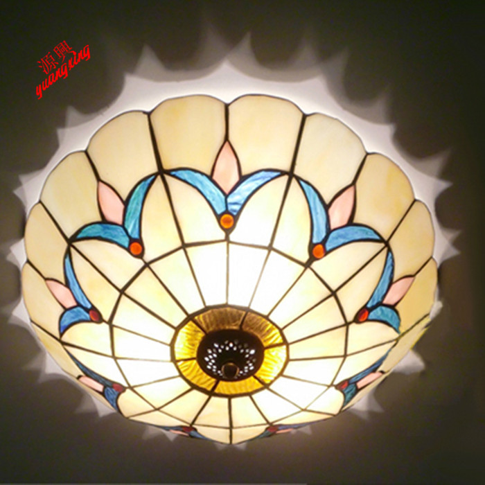 Tiffany minimalist European Ceiling lamp and living room balcony aisle bedroom den restaurant KTV Bar LED Ceiling lights DF141 european retro nostalgia classical ceiling lamp living room restaurant aisle stairs balcony ceiling lamp free shipping