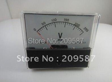 Аналоговый Вольт вольтметр для напряжения экранный измерительный прибор постоянного тока 0-250 V