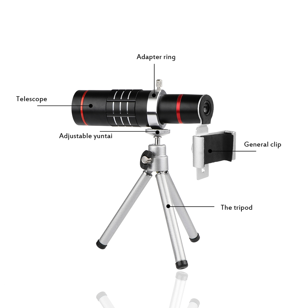 Universal 18X Zoom Telescope Phone Camera Lens with Tripod Ikeacasa Free Shipping
