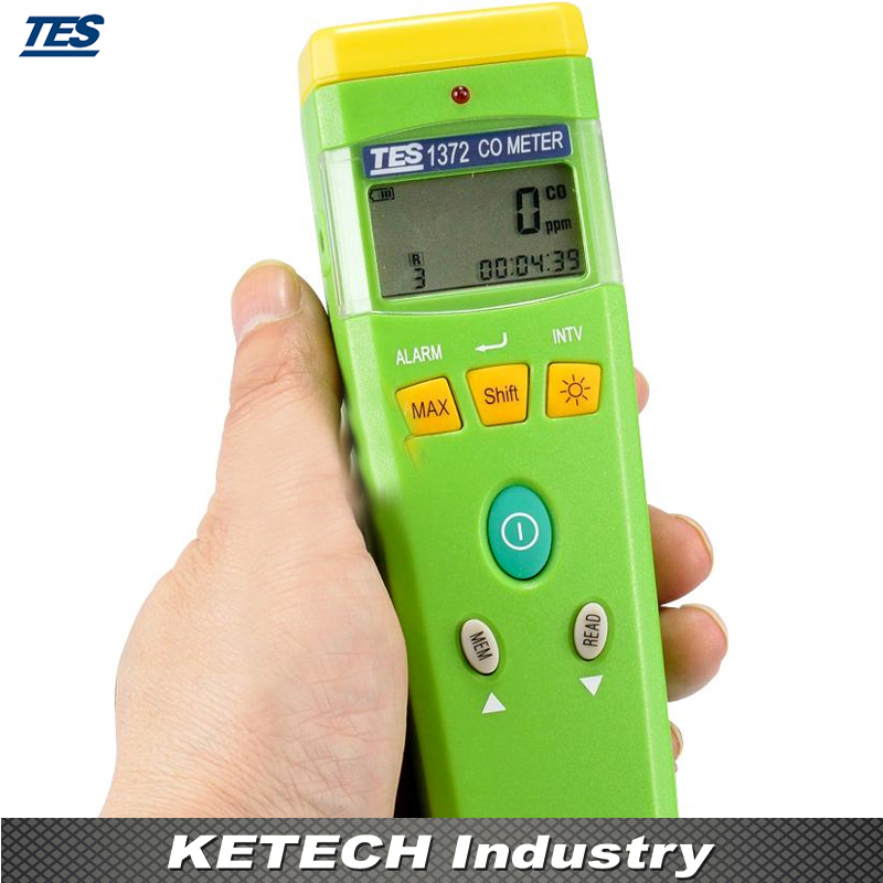 Handheld CO Detector Carbon Monoxide Meter Portable CO Meter TES1372