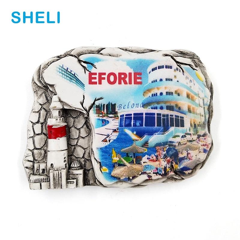Romania Travel Souvenir Scenery EFORIE 3D High-end Resin Fridge Magnets Gift Refrigerator Magnetic Sticker Home Decoration Decor