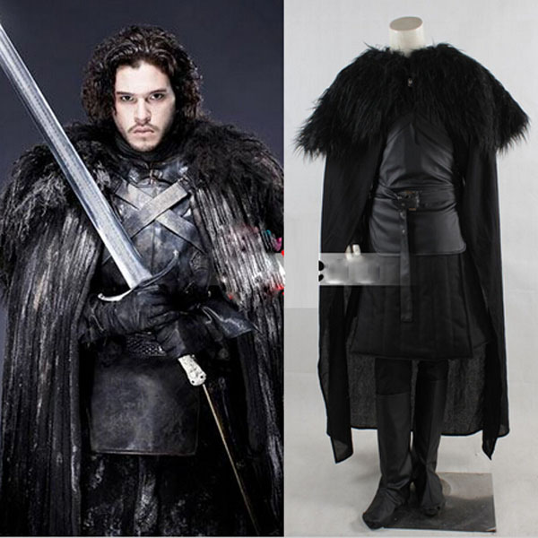 New Arrival Halloween costumes for adult Men Song of Ice and Fire Game of Thrones jon snow cosplay costume