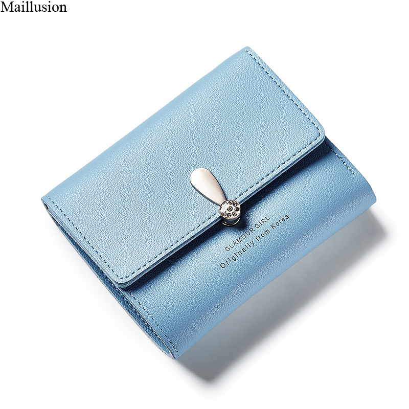 Maillusion Wallet Female Leather Fashion Women Purse Exclamation Mark Hasp Small Wallet Ladies Latter Sweet Carteras Coin Pocket недорого