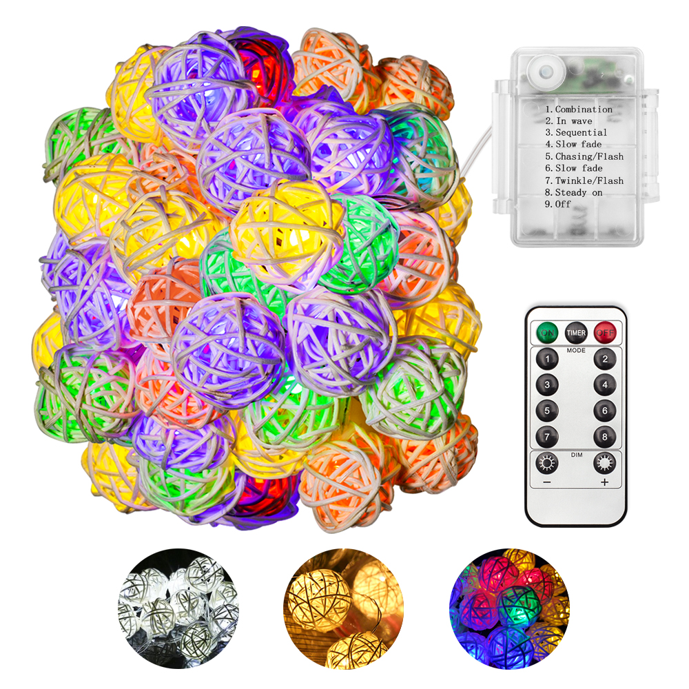 CHIZAO LED Rattan Ball String Fairy Holiday Light White Case Color Lighting Decorate Festival Party Christmas Tree Plant Flower худи print bar decorate tree