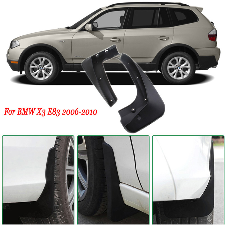 4pcs Premium Heavy Duty Molded Splash Mud Flaps Guards Fenders For BMW X3 E83 2006-2010  цены