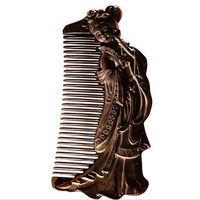 Hot Sale Beauty Wood Comb Carved Sandalwood Gift Comb Luxury Hardwood Ebony Comb Send Girlfriend Birthday