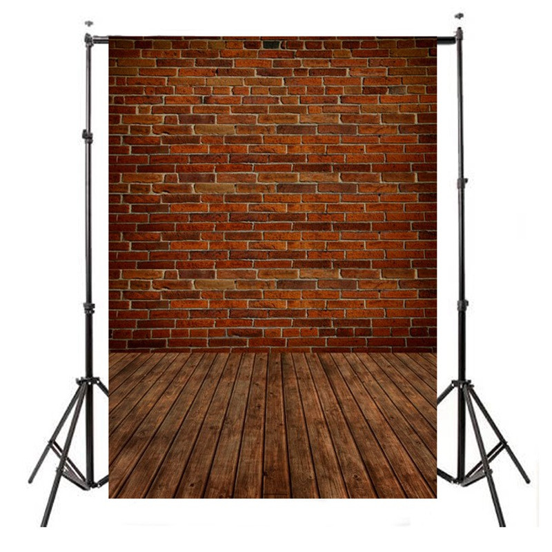 5x7ft Brick Wall Floor Vinyl Photography Background For Studio Photo Props Photographic Backdrops Cloth 210x 150cm dark brown brick wall with white clock photography backdrops wedding background 200x300cm photo studio props fotografia