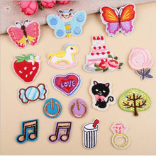 цены на DOUBLEHEE Plants And Animals Patch Embroidered Patches For Clothing Iron On For Close Shoes Bags Badges Embroidery  в интернет-магазинах