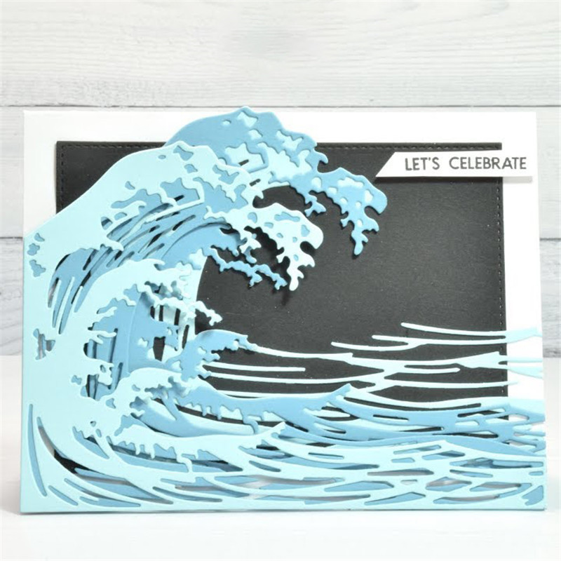 GJCrafts Wave Dies Frame Metal Cutting Dies for Card Making Scrapbooking Making Embossing Cuts Stencil Craft New 2019 for Dies(China)