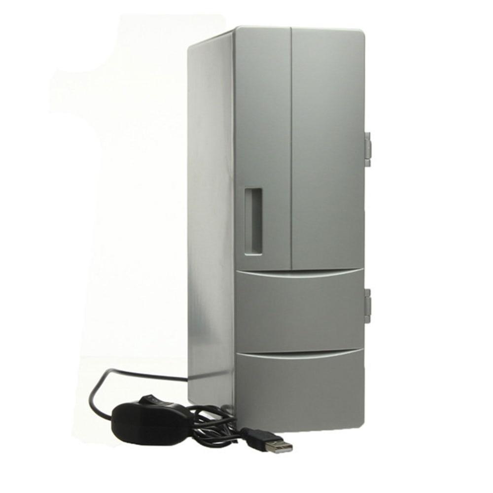 Portable Mini USB PC Laptop Fridge Cooler Refrigerator Warmer Cooler Beverage Drink Cans Freezer Beer Cooler Home Car auto