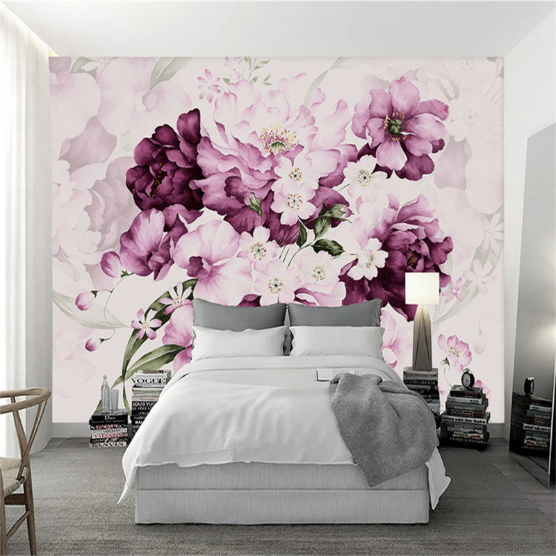 custom modern 3d photo wallpaper wall murals 3d hand-painted watercolor flower living room sofa bed background wall home decor shinehome black white cartoon car frames photo wallpaper 3d for kids room roll livingroom background murals rolls wall paper