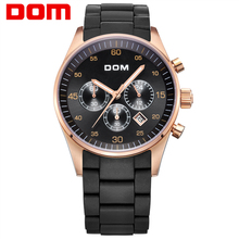 DOM Original Switzerland Men Sports Watches Black Waterproof Watches Men Luxury Brand Large Dial Male Quartz