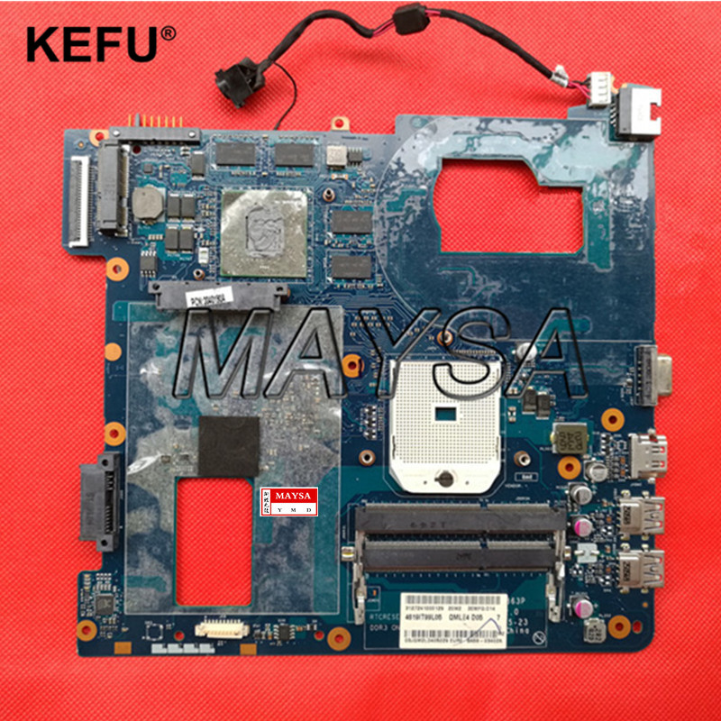 High quanlity Laptop Motherboard Fit For SAMSUNG NP355V5C 355V5C QMLE4 LA-8863P 100% Tested Fast Ship free shipping the laptop motherboard for samsung np355 np355c4c np355v5c qmle4 la 8863p hd7600 1gb socket fs1 ddr3 work perfect