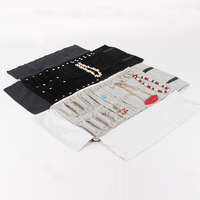 Multifunctional Velvet Jewelry Foldable Travel Roll Bag Portable Storage For Ring Necklace Earring Set Display Stand