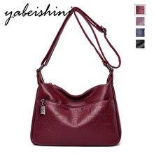 купить 2019 Messenger Bag Sac A Main Femme Leather Luxury Handbags Women Bags Designer Hand bags Women Shoulder Crossbody shopping bag дешево