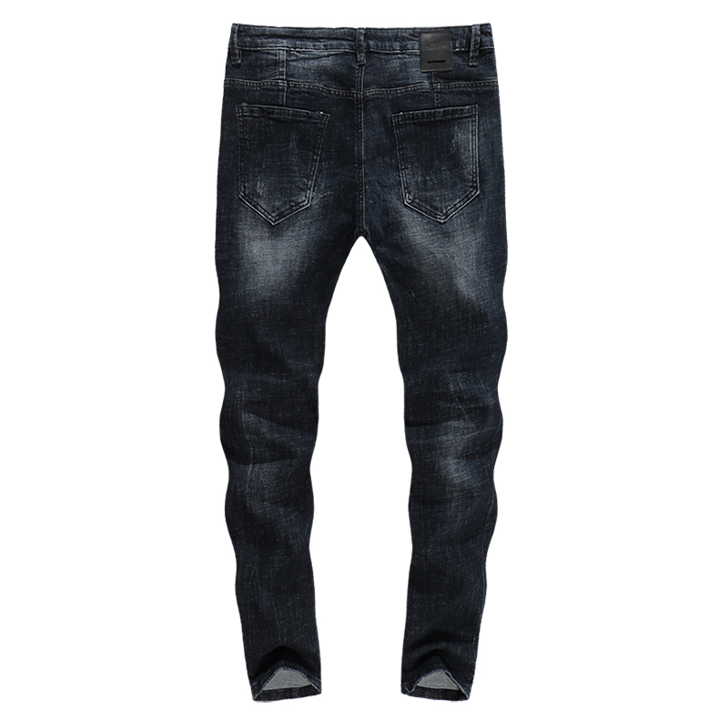 KSTUN Skinny Jeans Men Winter Jeans Dark Blue Ripped Biker Jeans Stretch Hiphop Handsome Cool Denim Trousers Damaged Man Jeans 12